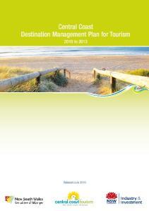 Central Coast Destination Management Plan for Tourism to 2013