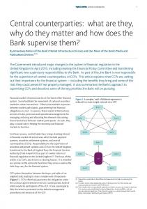 Central counterparties: what are they, why do they matter and how does the Bank supervise them?