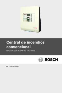 Central de incendios convencional