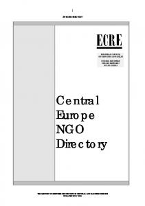 Central Europe NGO Directory