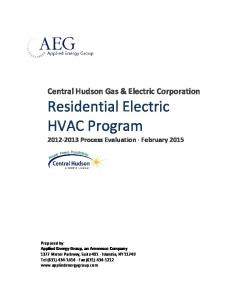 Central Hudson Gas & Electric Corporation Residential Electric HVAC Program