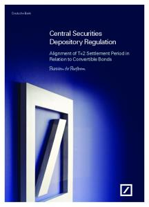 Central Securities Depository Regulation