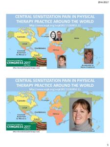 CENTRAL SENSITIZATION PAIN IN PHYSICAL THERAPY PRACTICE AROUND THE WORLD