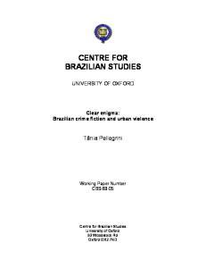 CENTRE FOR BRAZILIAN STUDIES