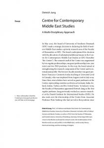 Centre for Contemporary Middle East Studies