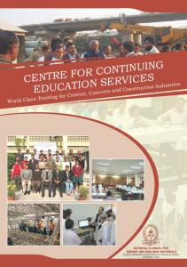 CENTRE FOR CONTINUING EDUCATION SERVICES