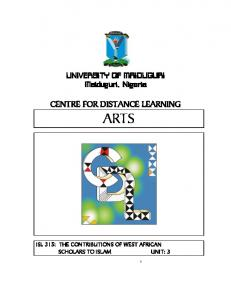 CENTRE FOR DISTANCE LEARNING ARTS