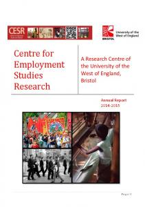 Centre for Employment Studies Research