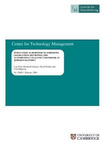 Centre for Technology Management