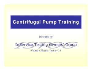 Centrifugal Pump Training