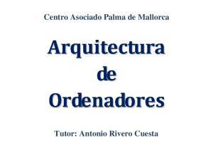 Centro Asociado Palma de Mallorca. Tutor: Antonio Rivero Cuesta