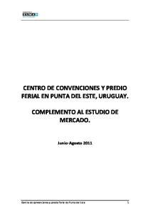 CENTRO DE CONVENCIONES Y PREDIO FERIAL EN PUNTA DEL ESTE, URUGUAY
