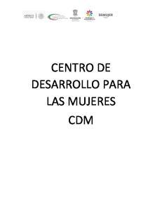 CENTRO DE DESARROLLO PARA LAS MUJERES CDM