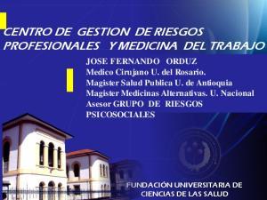 CENTRO DE GESTION DE RIESGOS PROFESIONALES Y MEDICINA DEL TRABAJO