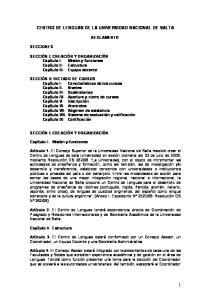 CENTRO DE LENGUAS DE LA UNIVERSIDAD NACIONAL DE SALTA