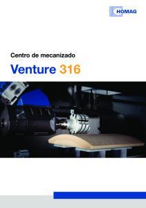 Centro de mecanizado. Venture 316