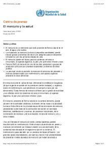 Centro de prensa El mercurio y la salud