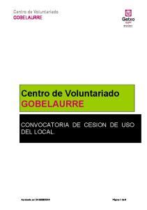 Centro de Voluntariado GOBELAURRE