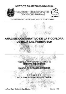 CENTRO INTERDISCIPLINARIO DE CIENCIAS MARINAS