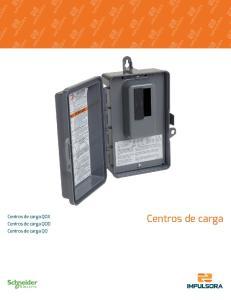 Centros de carga QOX Centros de carga QOD Centros de carga QO. Centros de carga