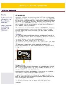 Century 21 Brand Guidelines