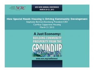CEO Carrfour Supportive Housing March 21, 2013