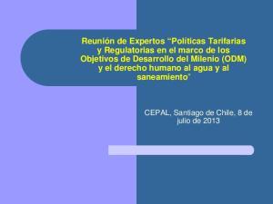CEPAL, Santiago de Chile, 8 de julio de 2013