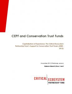 CEPF and Conservation Trust Funds