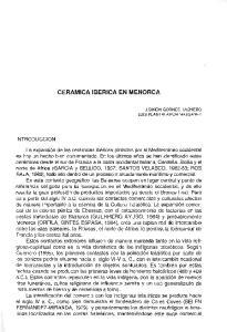 CERAMICA IBERICA EN MENORCA