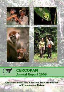 CERCOPAN Annual Report 2006