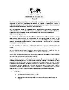 CEREMONIA DE LAS VELAS 2015 Protocolo