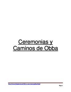 Ceremonias y Caminos de Obba