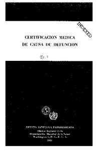 CERTIFICACION MEDICA DE CAUSA DE DEFUNCION