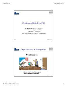 Certificados Digitales y PKI