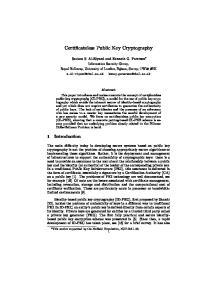 Certificateless Public Key Cryptography
