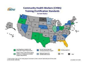 Certification Standards Current Status