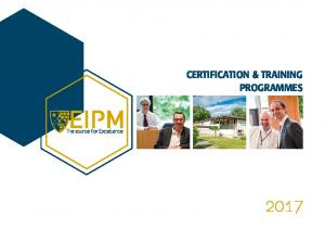certification & training programmes