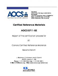 Certified Reference Materials AOCS 0711-B2