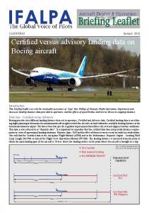 Certified versus advisory landing data on Boeing aircraft