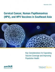 Cervical Cancer, Human Papillomavirus (HPV), and HPV Vaccines in Southeast Asia