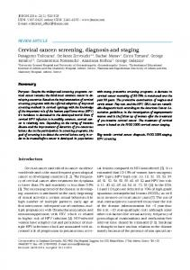 Cervical cancer: screening, diagnosis and staging