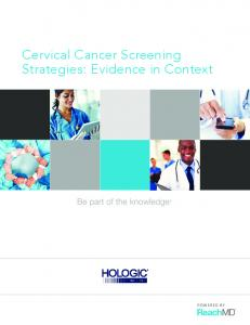 Cervical Cancer Screening Strategies: Evidence in Context