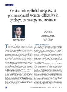 Cervical intraepithelial neoplasia in postmenopausal women: difficulties in cytology, colposcopy and treatment