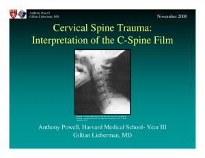 Cervical Spine Trauma: Interpretation of the C-Spine Film
