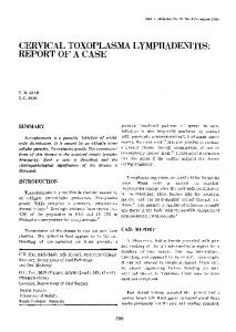 CERVICAL TOXOPLASMA LYMPHADENITIS: REPORT OF A CASE