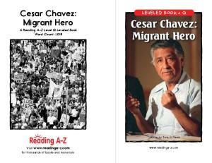 Cesar Chavez: Migrant Hero