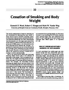 Cessation of Smoking and Body Weight