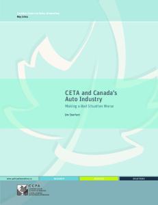CETA and Canada s Auto Industry
