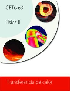 CETis 63. Fisica II. Transferencia de calor