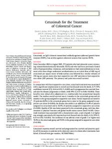 Cetuximab for the Treatment of Colorectal Cancer